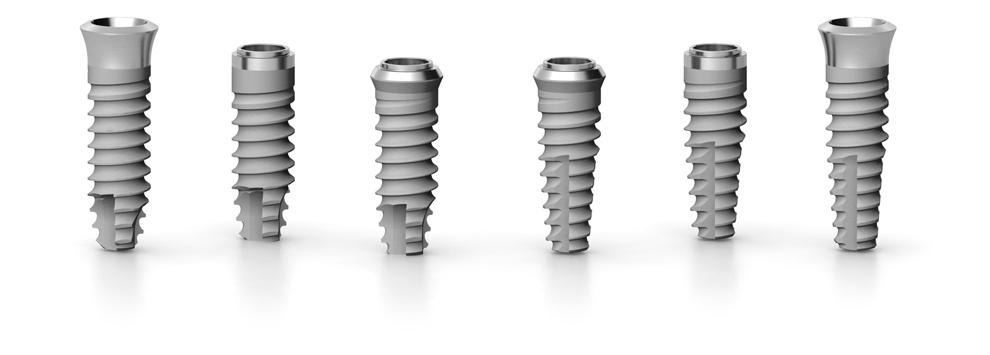 Implantes dentales cilíndricos